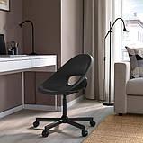 ELDBERGET ЕЛЬДБЕРГЕТ / MALSKÄR МАЛЬШЕР Обертовий стілець - чорний - IKEA, фото 2