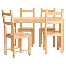 IKEA INGO / IVAR (490.973.50) Стол и 4 стула, сосна