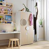 SMÅSTAD СМОСТАД / PLATSA ПЛАТСА Гардероб - білий/береза - IKEA, фото 2