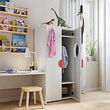 SMÅSTAD СМОСТАД / PLATSA ПЛАТСА Гардероб - білий/береза - IKEA, фото 3