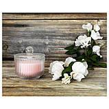 BLOMDOFT БЛОМДОРФ Свічка ароматична у склянці - Горошок запашний/світло-помаранчевий - IKEA, фото 5