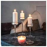 BLOMDOFT БЛОМДОРФ Свічка ароматична у склянці - Горошок запашний/світло-помаранчевий - IKEA, фото 6