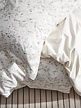 STRANDFRÄNE СТРАНДФРЕНЕ Підковдра+2 наволочки - білий/світло-бежевий - IKEA, фото 5