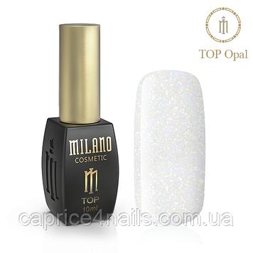 Каучуковый топ Milano, Rubber Top Gel, 10 мл, Opal