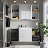 ENHET ЕНХЕТ / TVÄLLEN ТВЕЛЛЕН Меблі для ванної, набір 18предметів - білий/PILKÅN ПІЛЬКОН змішувач -, фото 2