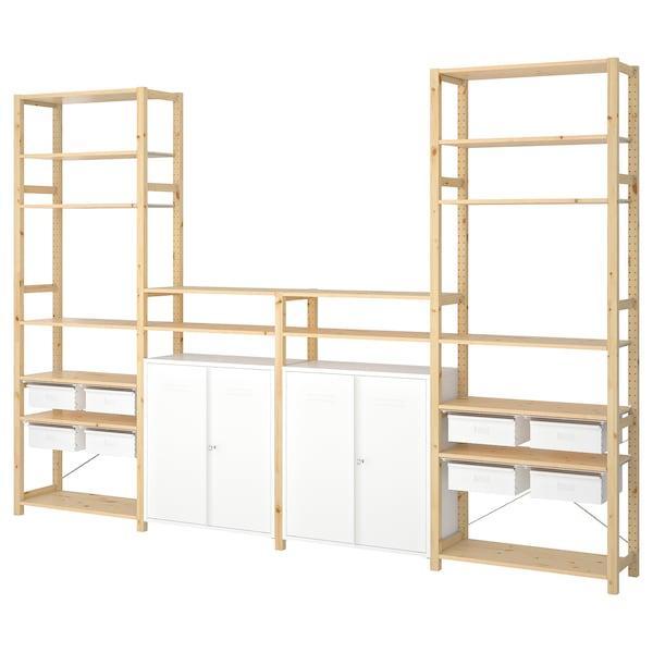 IVAR ІВАР 4 секції/полиці/шафа - сосна/білий - IKEA