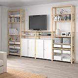 IVAR ІВАР 4 секції/полиці/шафа - сосна/білий - IKEA, фото 2