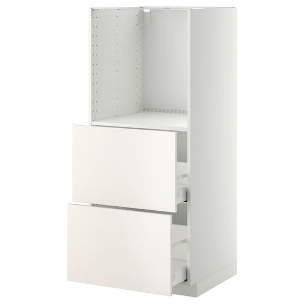 METOD МЕТОД / MAXIMERA МАКСІМЕРА Висока шафа, 2 шухляди для духовки - білий/ВЕДДІНГЕ білий - IKEA