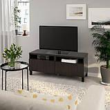 BESTÅ БЕСТО Тумба для телевізора з шухлядами - чорно-коричневий/ЛАППВІКЕН/СТУББ чорно-коричневий - I, фото 2
