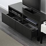 BESTÅ БЕСТО Тумба для телевізора з шухлядами - чорно-коричневий/ЛАППВІКЕН/СТУББ чорно-коричневий - I, фото 4