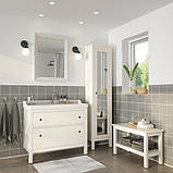 HEMNES ХЕМНЕС / RÄTTVIKEN РЕТТВІКЕН Меблі для ванної кімнати, набір 5шт - білий/HAMNSKÄR ХАМНШЕР змі, фото 2
