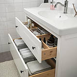 HEMNES ХЕМНЕС / RÄTTVIKEN РЕТТВІКЕН Меблі для ванної кімнати, набір 5шт - білий/HAMNSKÄR ХАМНШЕР змі, фото 3