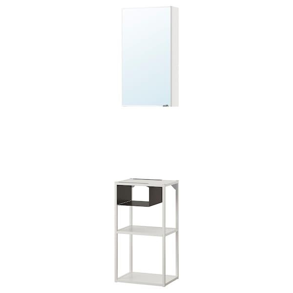 ENHET ЕНХЕТ Навісна комбінація з дзерк дверцят - білий - IKEA