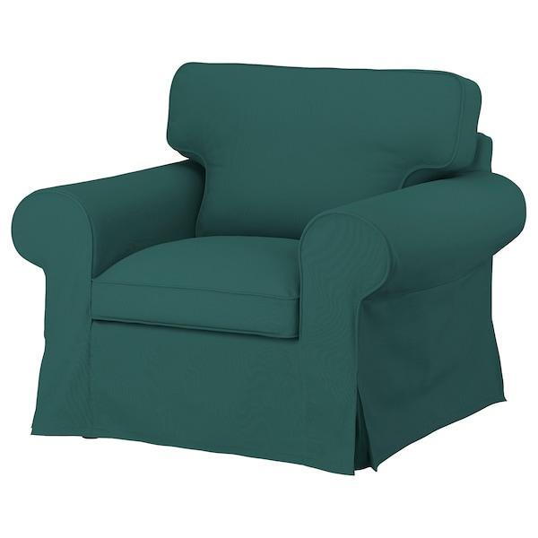 EKTORP ЕКТОРП Чохол для крісла - ТОТЕБУ темно-бірюзовий - IKEA