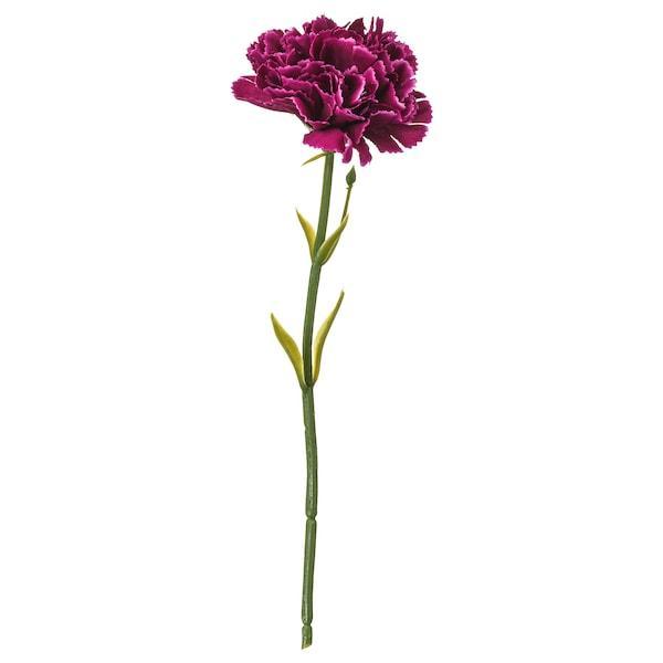 SMYCKA СМЮККА Штучна квітка - гвоздика/темно-бузковий - IKEA