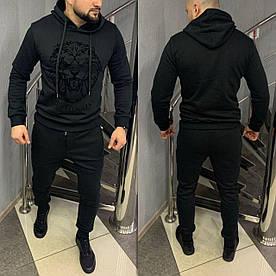 Утепленный брендовый спортивный костюм. Коллекция 2021. Материал: 95% хлопок, 5% эластан, внутри флис.