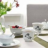 UPPLAGA УППЛАГА Чашка - білий/із малюнком - IKEA, фото 3