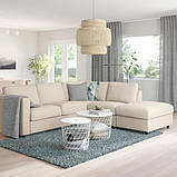 VIMLE ВІМЛЕ Кутовий диван, 4-місний - з вікритою секцією/ГУННАРЕД бежевий - IKEA, фото 2