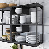 ENHET ЕНХЕТ Настінна комбінація для зберігання - антрацит - IKEA, фото 2