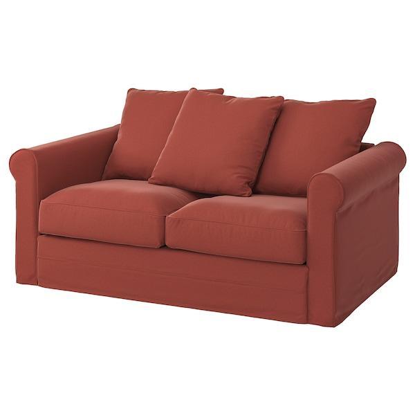 GRÖNLID ГРЕНЛІД 2-місний диван - ЛЬЙУНГЕН світло-червоний - IKEA