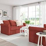 GRÖNLID ГРЕНЛІД 2-місний диван - ЛЬЙУНГЕН світло-червоний - IKEA, фото 2