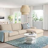 KIVIK КІВІК 3-місний диван - з кушеткою/ХІЛЛАРЕД бежевий - IKEA, фото 2