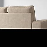 KIVIK КІВІК 3-місний диван - з кушеткою/ХІЛЛАРЕД бежевий - IKEA, фото 4
