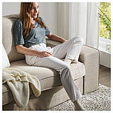 KIVIK КІВІК 3-місний диван - з кушеткою/ХІЛЛАРЕД бежевий - IKEA, фото 8