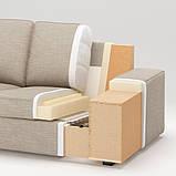 KIVIK КІВІК 3-місний диван - з кушеткою/ХІЛЛАРЕД бежевий - IKEA, фото 9