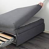VALLENTUNA ВАЛЛЕНТУНА Модуль дивана-ліжка - ХІЛЛАРЕД темно-сірий - IKEA, фото 3