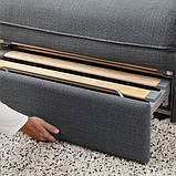 VALLENTUNA ВАЛЛЕНТУНА Модуль дивана-ліжка - ХІЛЛАРЕД темно-сірий - IKEA, фото 5