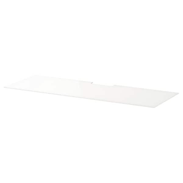 BESTÅ БЕСТО Верхня панель для телевізора - скло білий - IKEA