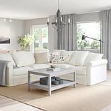 GRÖNLID ГРЕНЛІД Кутовий диван, 4-місний - ІНСЕРОС білий - IKEA, фото 2