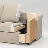 GRÖNLID ГРЕНЛІД Кутовий диван, 4-місний - ІНСЕРОС білий - IKEA, фото 8