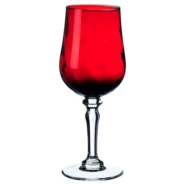 VINTER 2020 ВІНТЕР 2020 Келих для вина - прозоре скло/червоний - IKEA