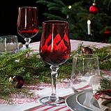 VINTER 2020 ВІНТЕР 2020 Келих для вина - прозоре скло/червоний - IKEA, фото 2