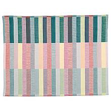 IKEA MITTBIT (803.435.65) Салфетка под приборы,, розовая бирюзовая, светло-зеленая