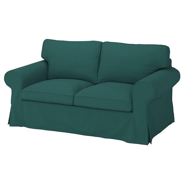 EKTORP ЕКТОРП Чохол для 2-місного дивана - ТОТЕБУ темно-бірюзовий - IKEA