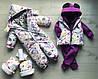 Жилет детский Лисята с фиолетовыми зверятами, фото 2
