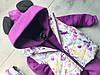 Жилет детский Лисята с фиолетовыми зверятами, фото 6