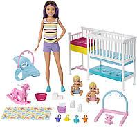 Игровой набор Бабри Скиппер няня Детская комната Оригинал  Barbie Nursery Playset (GFL38) (887961764918), фото 1