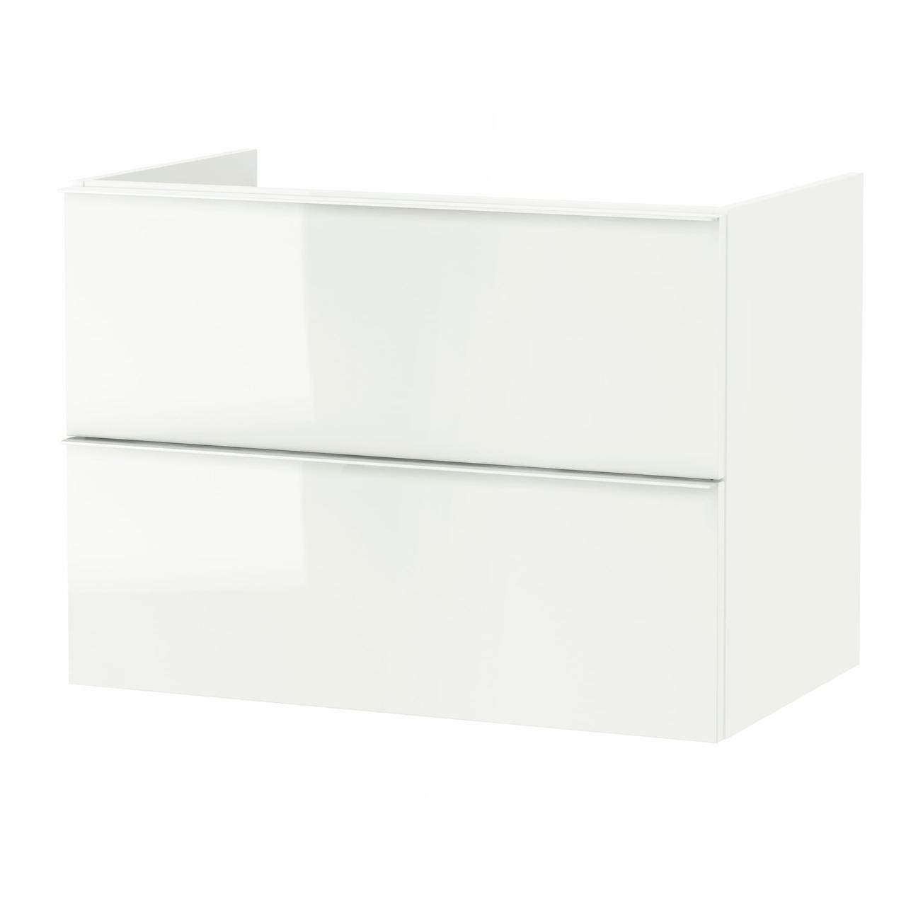 IKEA GODMORGON Шафа під умивальник, глянцевий білий (301.809.95)