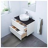 IKEA GODMORGON Шафа під умивальник, глянцевий білий (301.809.95), фото 2