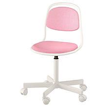 IKEA ORFJALL (704.417.69) Детский офисный стул, белый, Vissle pink