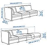 IKEA Модульна секція дивана VALLENTUNA (892.779.24), фото 3