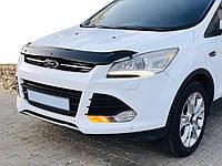 Ford Kuga/Escape 2013-2019 гг. Дефлектор капота Мухобойка Форд Ескейп/Эскейп 2013-2016 EuroCap