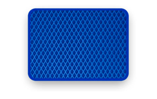 Коврик для туалета с водонепроницаемым слоем EVA синий/ромб 300х300х10 мм