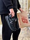 Кросівки зимові жіночі New Balance 574 Black, чорні, фото 4