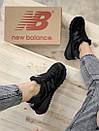 Кросівки зимові жіночі New Balance 574 Black, чорні, фото 5