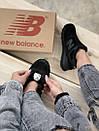 Кросівки зимові жіночі New Balance 574 Black, чорні, фото 7